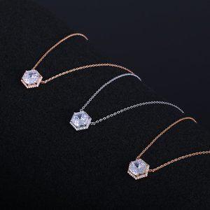 Henri Bendel Hexagonal Zircon Inlaid Necklace